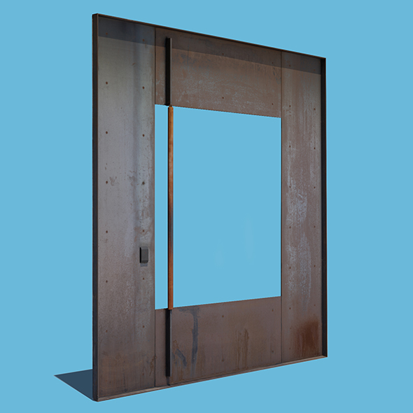 3DOcean Square Metal Door 21060489