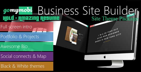 CodeCanyon gomymobiBSB's Site Theme Hold Amazing Resume 21060510