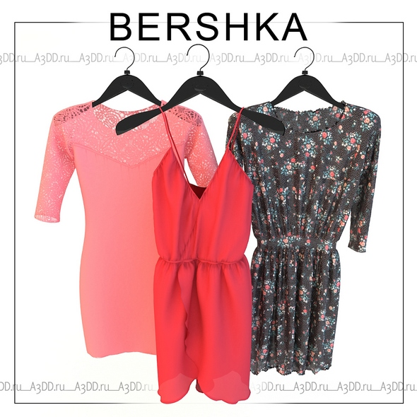 Set of womens clothing dresses Bershka - 3DOcean Item for Sale