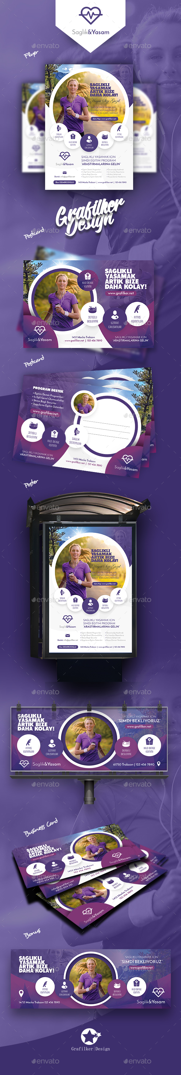 GraphicRiver Healthy Life Bundle Templates 21060609
