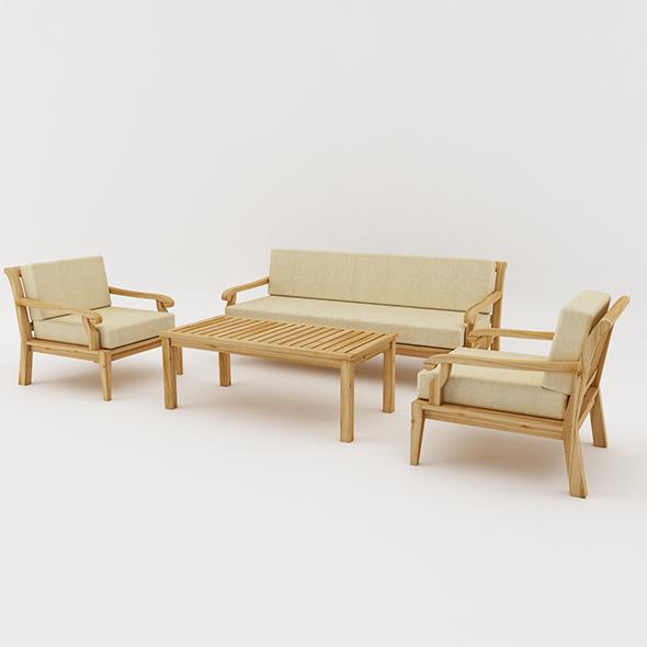 Outdoor Sofa Set - 3DOcean Item for Sale