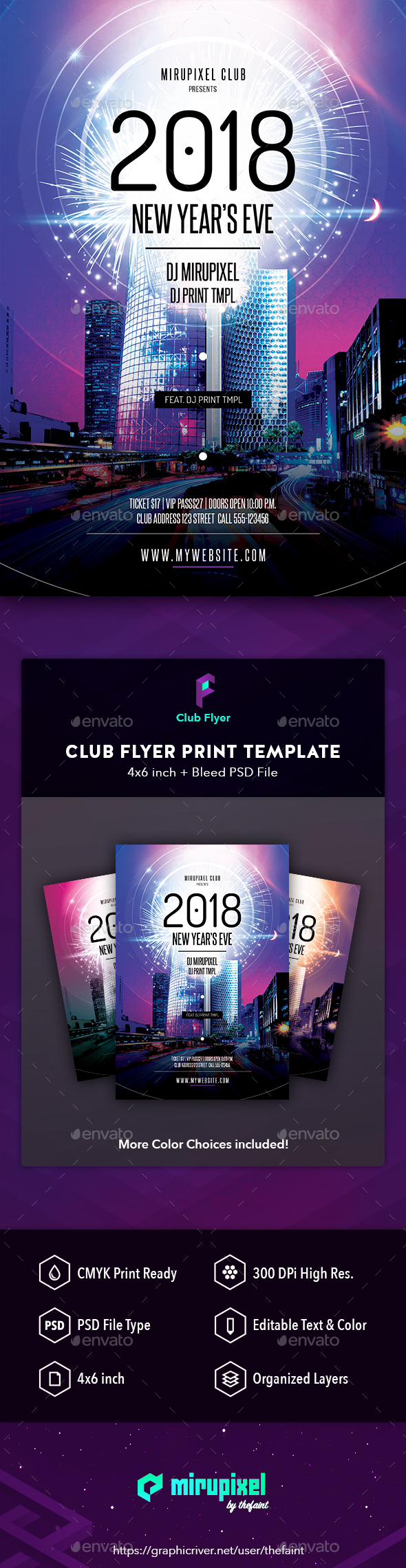GraphicRiver Club Flyer New Year's Eve 21060666
