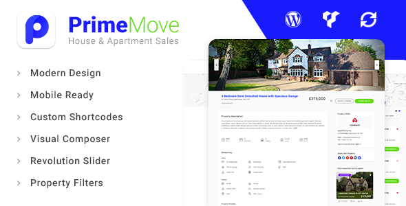 ThemeForest Primemove Real Estate Property WordPress Theme 20785663