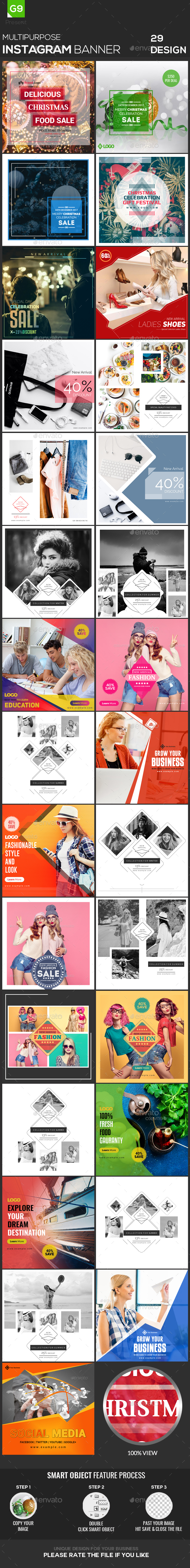 GraphicRiver Instagram Bundle 29 Design 21060783