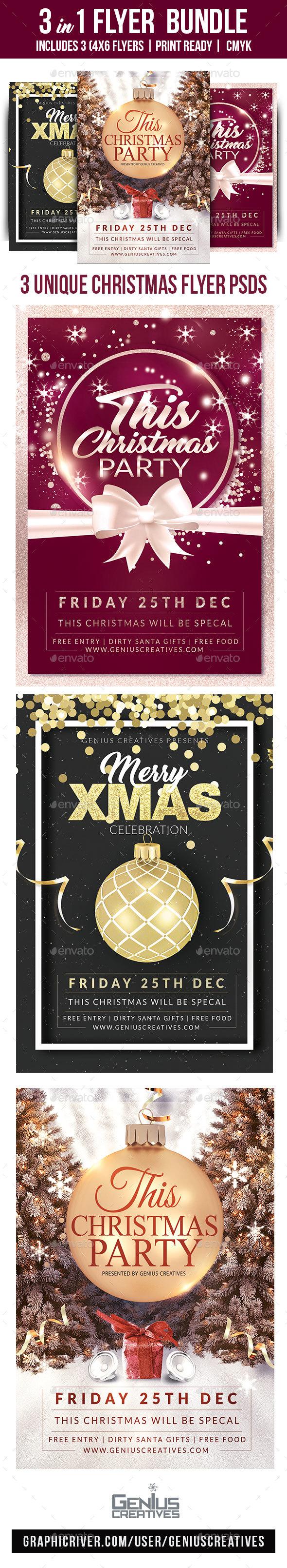 Christmas Flyer Bundle Volume 1 - Holidays Events