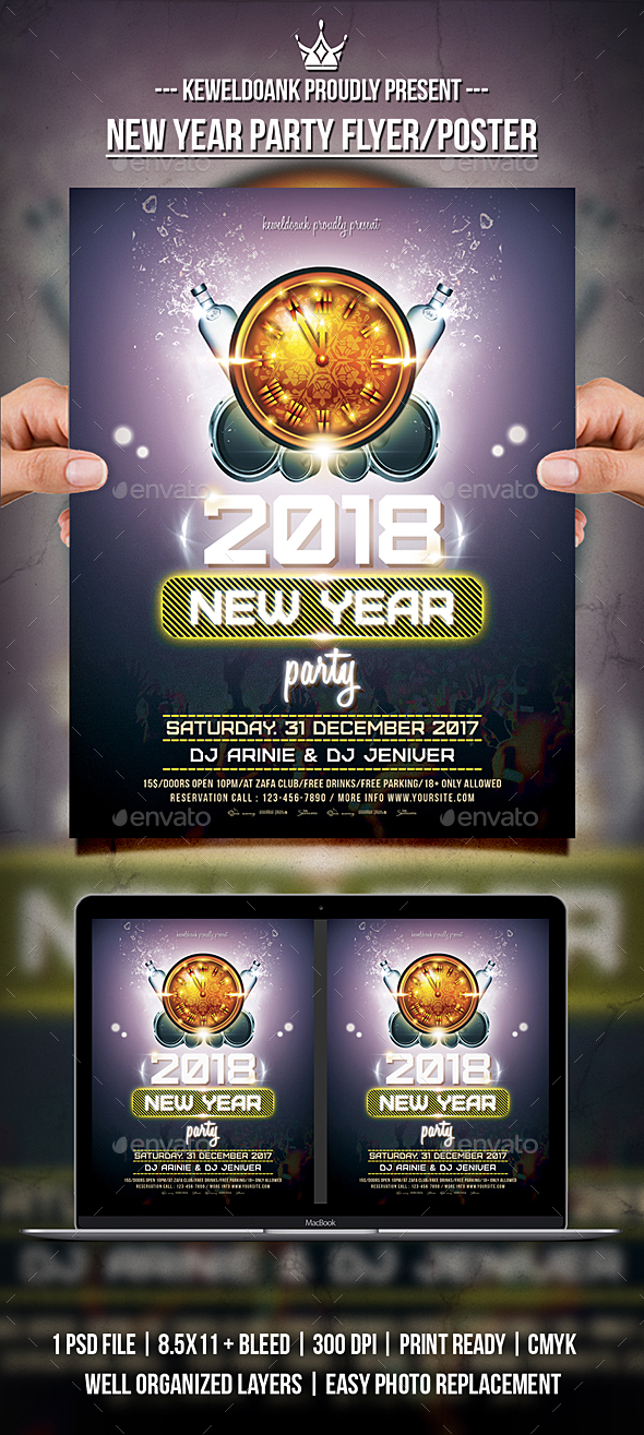New Year Party Flyer / Poater - Clubs & Parties Events