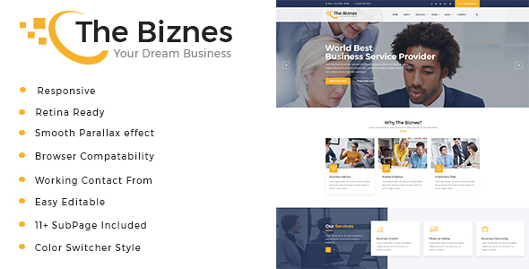 Image of The Business - Business Consulting and Professional Services HTML Template