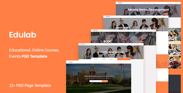Edulab – Educational PSD Template
