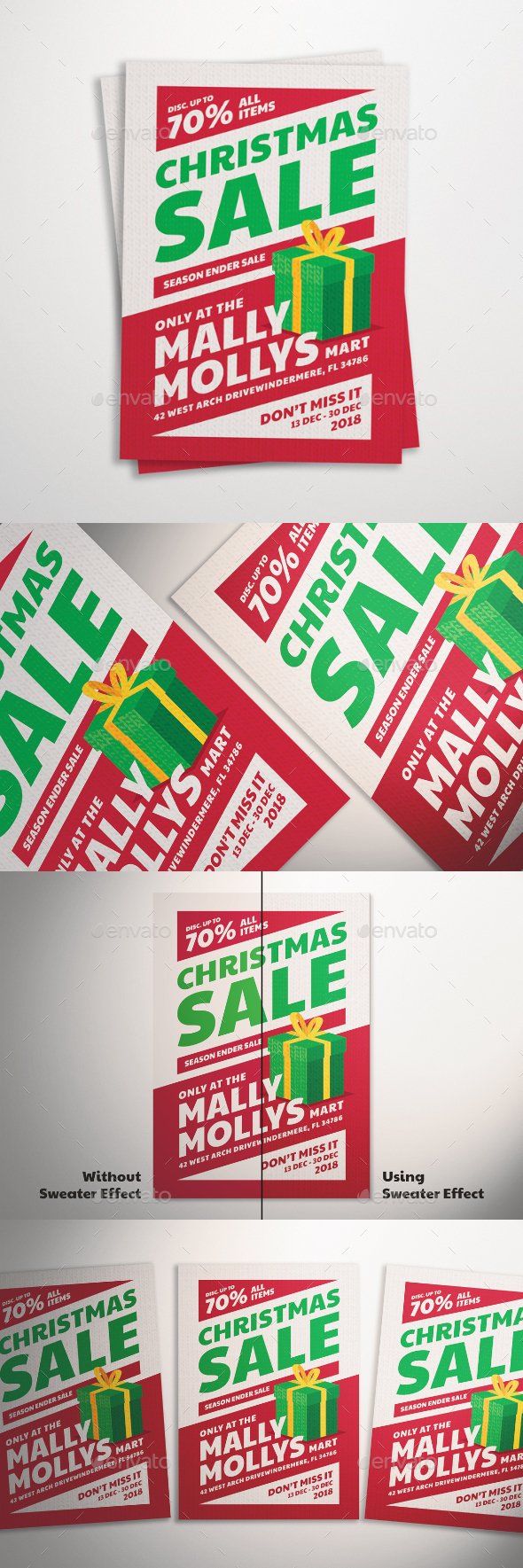 GraphicRiver Christmas Sale Flyer 21060947