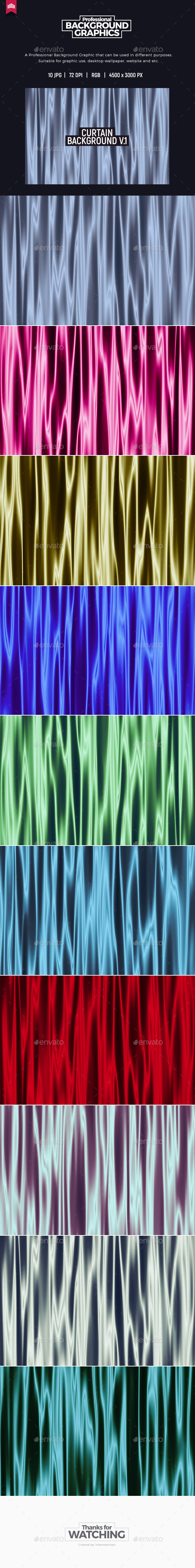 Curtain Background V.1 - Abstract Backgrounds