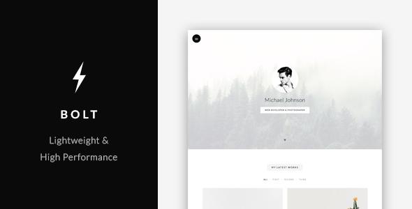 Bolt - vCard / Portfolio Template