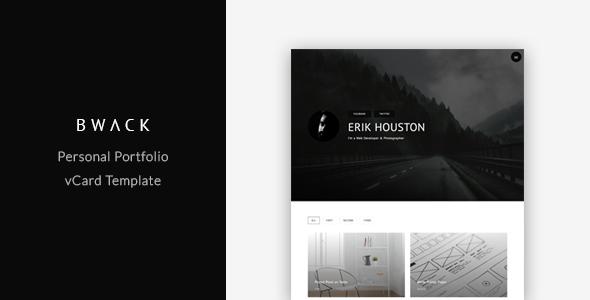 BWACK - Personal Portfolio / vCard Template