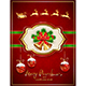 Santa in Sleigh and Card with Christmas Bells