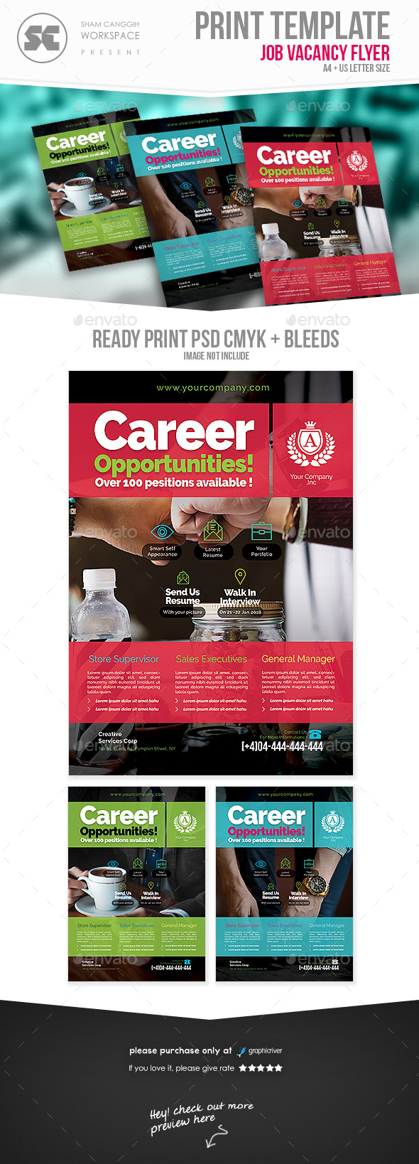 GraphicRiver Job Vacancy Flyer 21061286