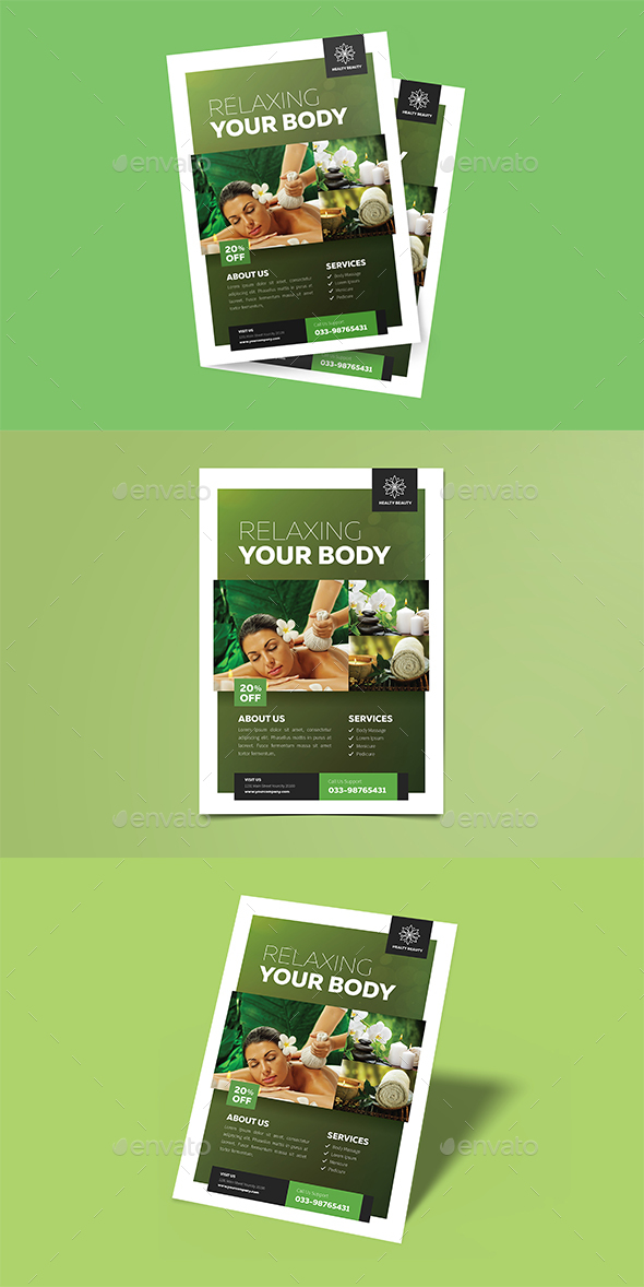 GraphicRiver Modern Spa Flyer 21061290