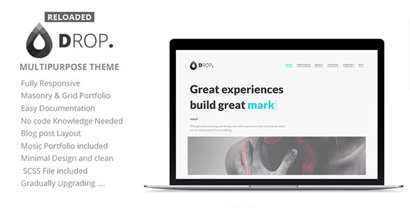 Image of Drop Reloaded - Creative Personal & Portfolio Minimal Theme