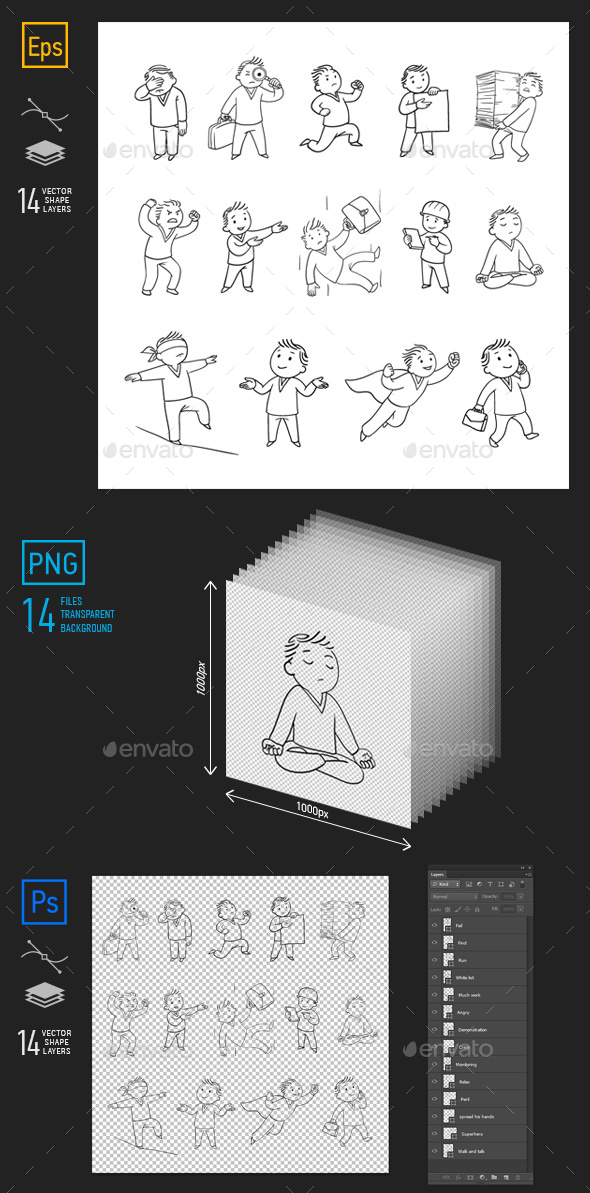 GraphicRiver Male Character for Whiteboard Part 2 21061338