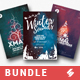 Winter Sound - Alternative Christmas Party Flyer Templates Bundle - GraphicRiver Item for Sale