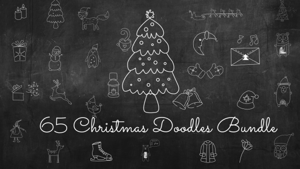 VideoHive 65 Christmas Doodles Bundle 21061433