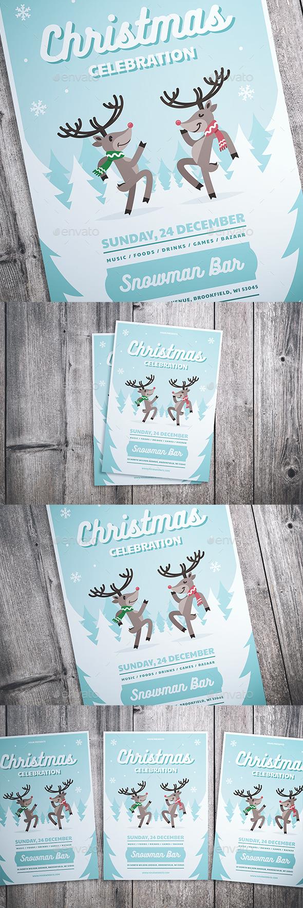 GraphicRiver Christmas Celebration Flyer 21061479