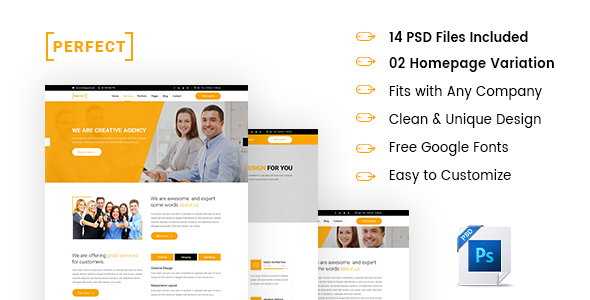 ThemeForest PERFECT Multipurpose PSD Template 21061482