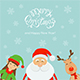 Merry Christmas and Santa with Elf and Reindeer
