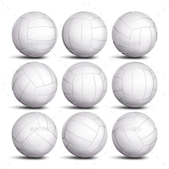 GraphicRiver Realistic Volleyball Ball Set Vector 21061639