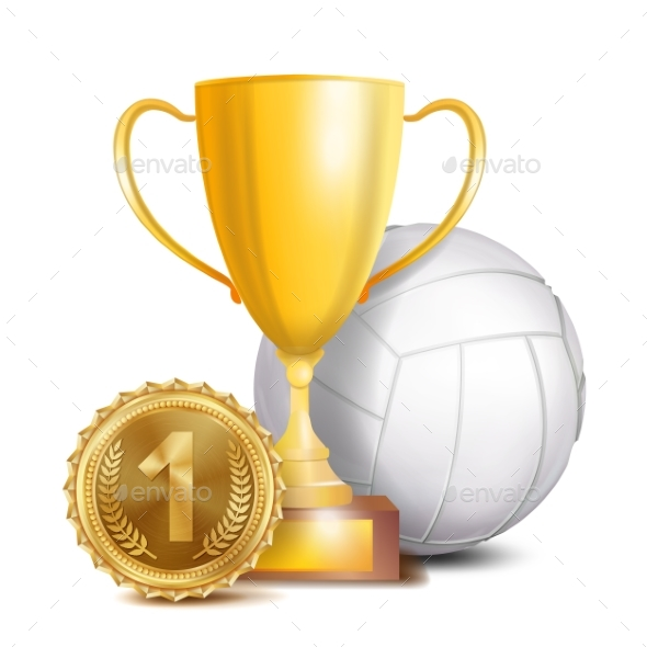 GraphicRiver Volleyball Award Vector 21061719