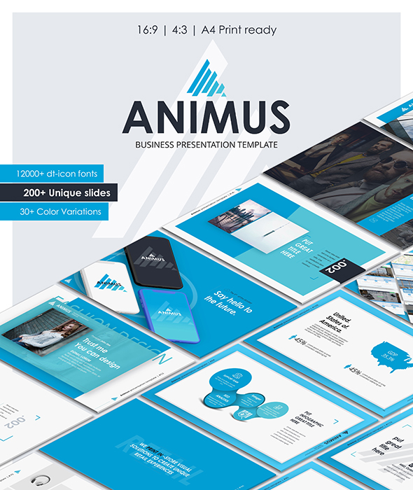 GraphicRiver Animus Keynote Presentation Template 21061724