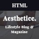 Aesthetics || Lifestyle & Magazine, Bootstrap4, SAAS Template - ThemeForest Item for Sale
