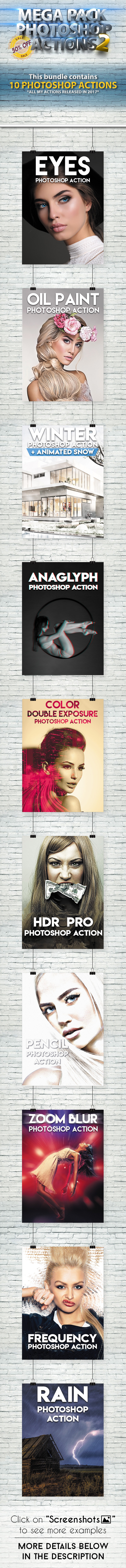 Mega Pack 2 Photoshop Actions Bundle - Photo Effects Actions