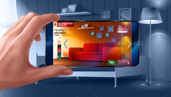 GraphicRiver Augmented Reality Application of Smartphone 21061943