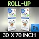 Pharmacy Signage Roll Up Banner Template Vol.2