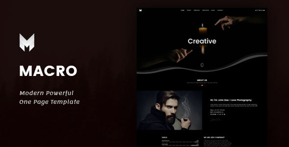ThemeForest Macro One Page Parallax Template 21062091