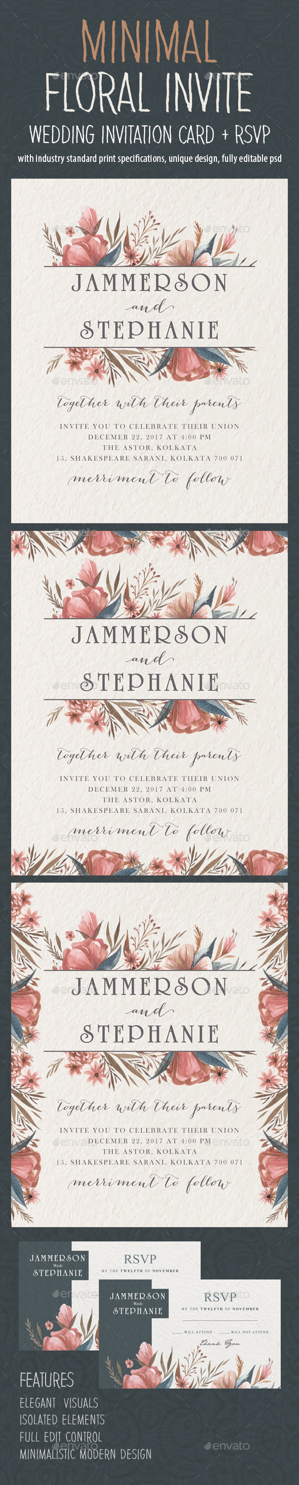 GraphicRiver Minimal Floral Wedding Invite 02 21062145