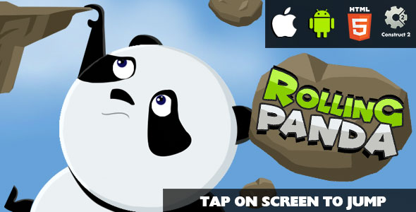 Download Rolling Panda - HTML5 Game (CAPX)