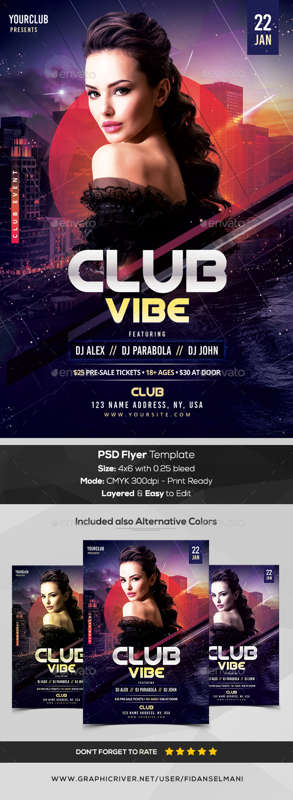 GraphicRiver Club Vibe PSD Flyer Template 21049824