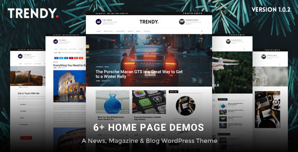 Trendy Pro - Responsive WordPress News Magazine Blog Theme - Personal Blog / Magazine