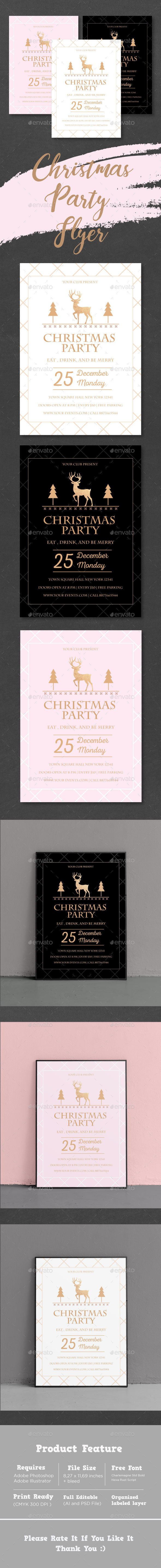 Christmas Party Flyer 3 in 1 - Events Flyers
