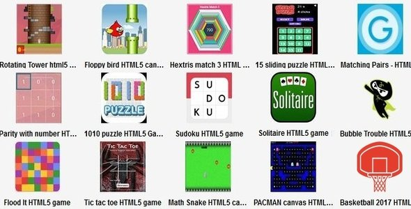 15 HTML5 Games - CodeCanyon Item for Sale