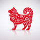 Stylized Red Dog with Ornament - GraphicRiver Item for Sale