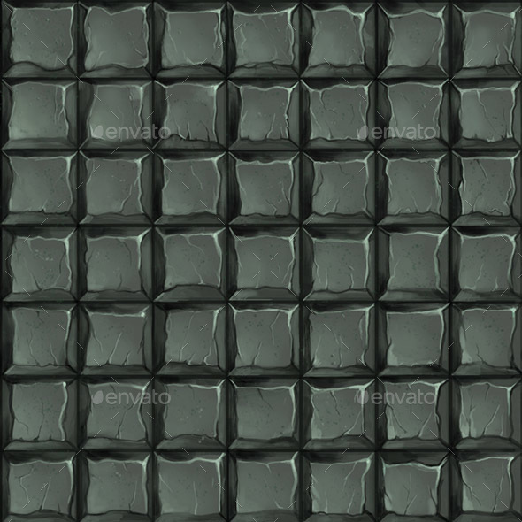 3DOcean Square stone tiles hand painted seamless texture 21062780