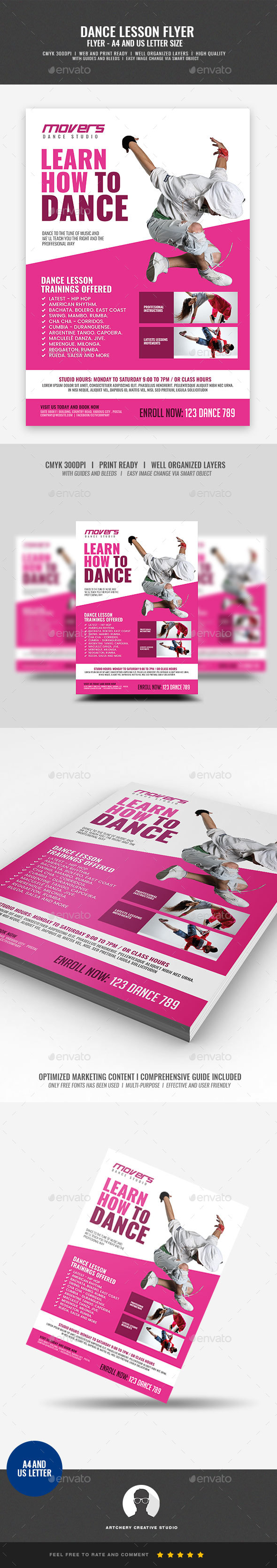 GraphicRiver Dance Studio Flyer 21046318
