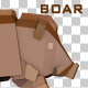 Low Poly 3D Boar - VideoHive Item for Sale