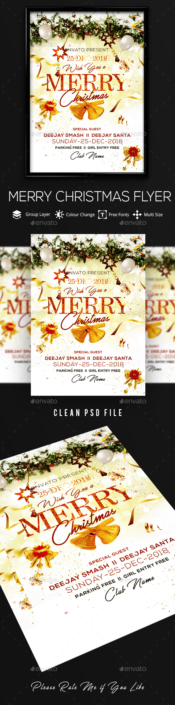 GraphicRiver Christmas Flyer 21062897
