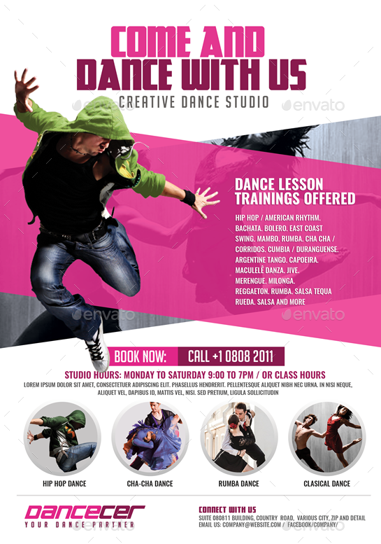 dance studio promotion by artchery
