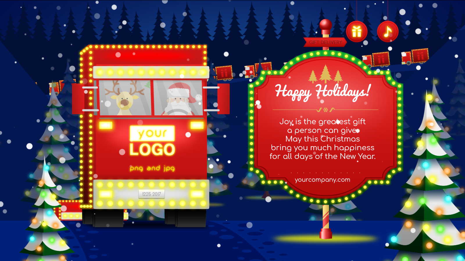 Christmas Card Delivery of Gifts by keiow | CodeCanyon