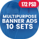 Bundle Multipurpose, Corporate, Business Banners Ad - 72PSD [ 10 Sets ]