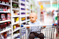 Little baby boy at the supermarket. - PhotoDune Item for Sale
