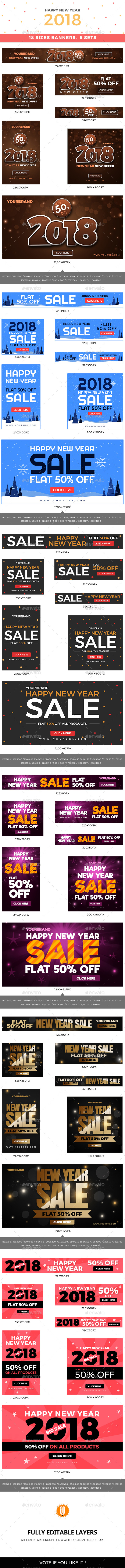 GraphicRiver 108 New Year Web Banners 21063231